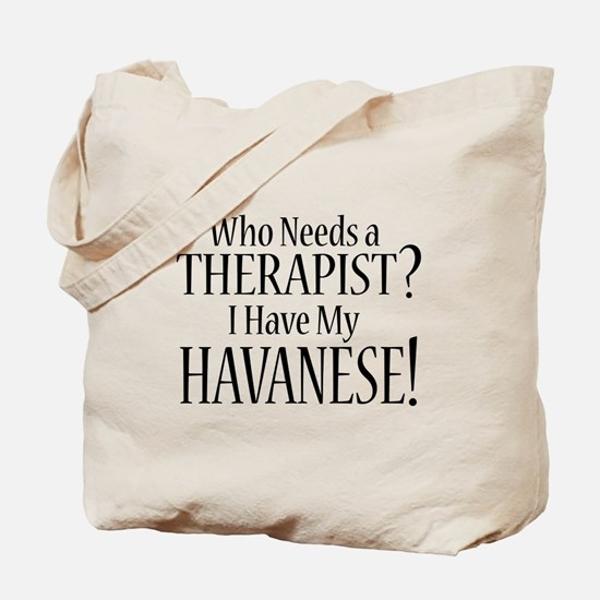 THERAPIST Havanese Tote Bag