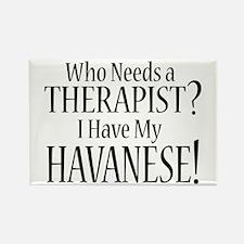THERAPIST Havanese Rectangle Magnet