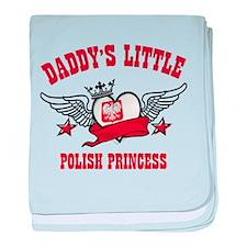 Daddy's Little Polish Princess baby blanket