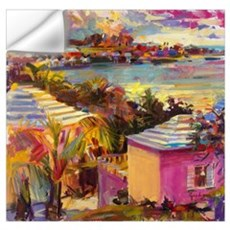 Dusk Reflections, Bermuda, 2011 (oil on canvas) Wall Decal