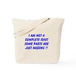 parts missing merchandise Tote Bag