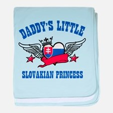 Daddy's Little Slovakian Princess baby blanket