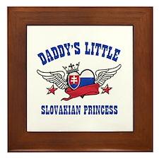 Daddy's Little Slovakian Princess Framed Tile