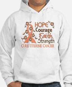 Hope Courage Faith Uterine Cancer Shirts Hoodie