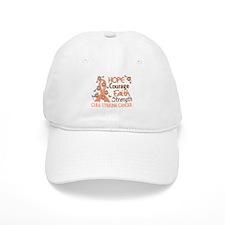 Hope Courage Faith Uterine Cancer Shirts Baseball Cap