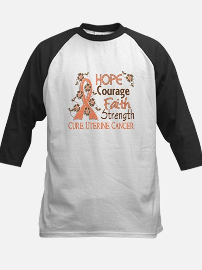 Hope Courage Faith Uterine Cancer Shirts Tee