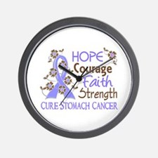 Hope Courage Faith Stomach Cancer Shirts Wall Cloc