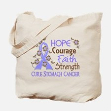 Hope Courage Faith Stomach Cancer Shirts Tote Bag