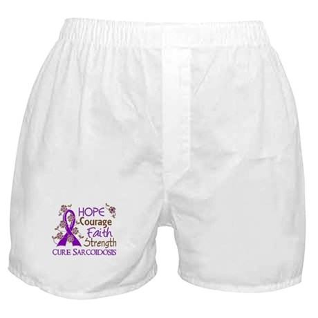 Hope Courage Faith Sarcoidosis Shirts Boxer Shorts