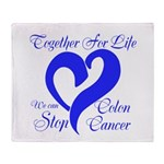 Stop Colon Cancer Throw Blanket