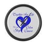Stop Colon Cancer Large Wall Clock