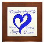Stop Colon Cancer Framed Tile