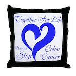 Stop Colon Cancer Throw Pillow