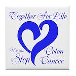 Stop Colon Cancer Tile Coaster