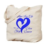 Stop Colon Cancer Tote Bag