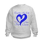 Stop Colon Cancer Kids Sweatshirt