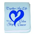 Stop Colon Cancer baby blanket