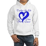 Stop Colon Cancer Hooded Sweatshirt