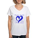 Stop Colon Cancer Women's V-Neck T-Shirt