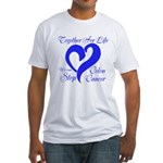 Stop Colon Cancer Fitted T-Shirt
