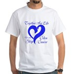 Stop Colon Cancer White T-Shirt