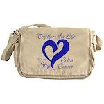 Stop Colon Cancer Messenger Bag