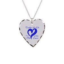 Stop Colon Cancer Necklace Heart Charm
