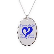 Stop Colon Cancer Necklace Oval Charm