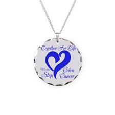 Stop Colon Cancer Necklace Circle Charm