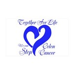 Stop Colon Cancer 35x21 Wall Decal