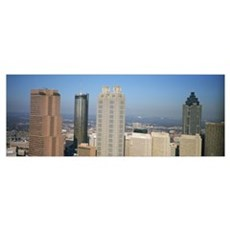 Skyscrapers in a city, Atlanta, Georgia Poster