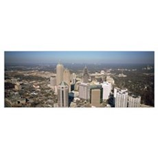 High angle view of buildings in a city, Atlanta, G Poster