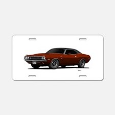 1970 Challenger Burnt Orange Aluminum License Plat
