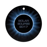 Eclipse 2017 Round Ornaments