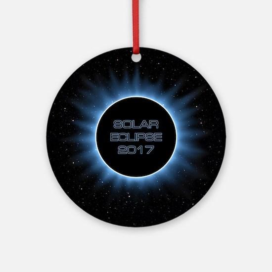 Solar Eclipse 2017 Round Ornament