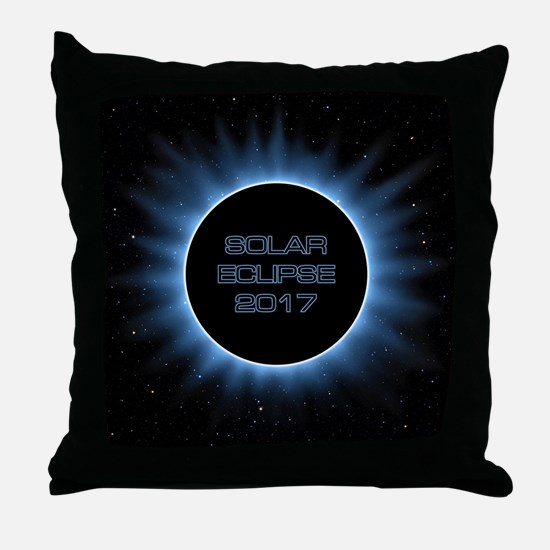 Solar Eclipse 2017 Throw Pillow