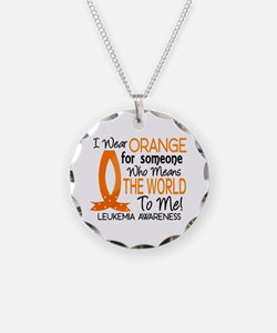 Means World To Me 1 Leukemia Necklace