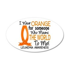 Means World To Me 1 Leukemia 22x14 Oval Wall Peel