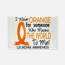 Means World To Me 1 Leukemia Rectangle Magnet
