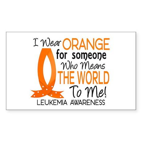 Means World To Me 1 Leukemia Sticker (Rectangle)