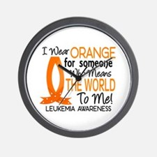 Means World To Me 1 Leukemia Wall Clock