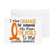 Means World To Me 1 Leukemia Greeting Card