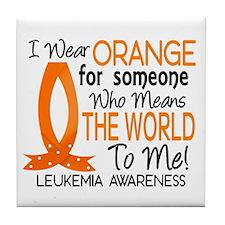 Means World To Me 1 Leukemia Tile Coaster