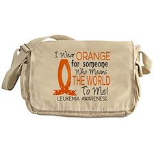 Means World To Me 1 Leukemia Messenger Bag