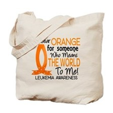 Means World To Me 1 Leukemia Tote Bag
