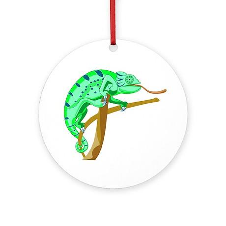 Chameleon Ornament (Round)