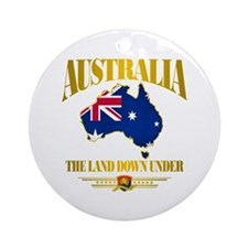 """Land Down Under"" Ornament (Round)"
