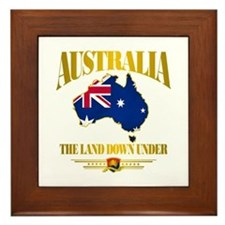 """Land Down Under"" Framed Tile"
