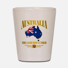 """Land Down Under"" Shot Glass"