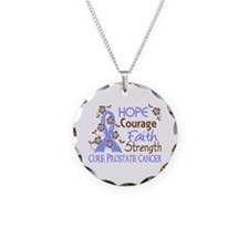 Hope Courage Faith Prostate Cancer Shirts Necklace
